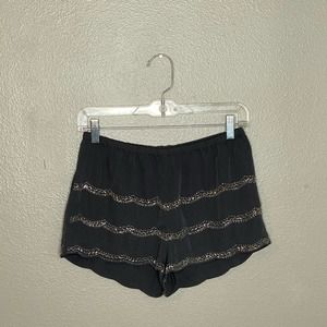 Candies Gray Sequin Shorts S